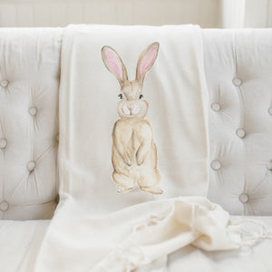 Bunny Watercolor Throw Blanket