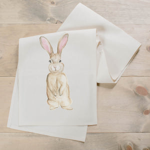 Bunny Watercolor Table Runner