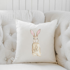 Bunny Watercolor Pillow