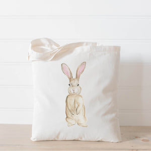 Bunny Watercolor Tote Bag