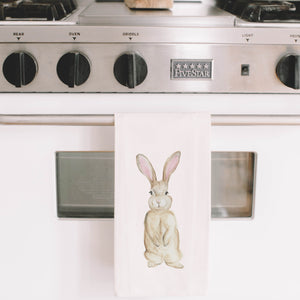 Bunny Watercolor Tea Towel