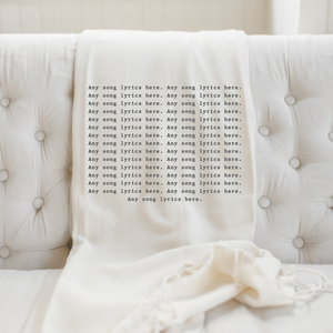 Personalized Song Lyrics Throw Blanket