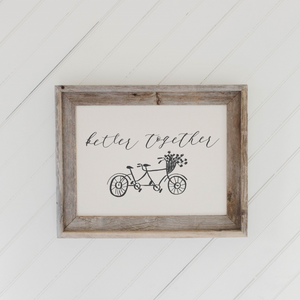 Bettter Together Barn Wood Framed Print