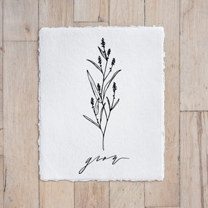 Grow Wildflower Print