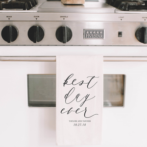 Personalized Best Day Ever Tea Towel