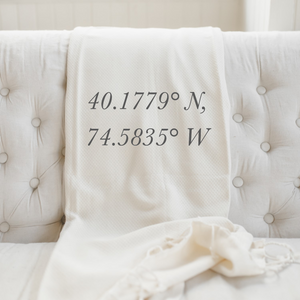 Personalized Coordinates Throw Blanket