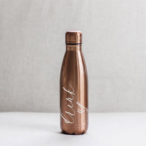 Drink Up Metallic Water Bottle
