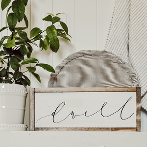 Cozy White Cottage Words Wood Sign