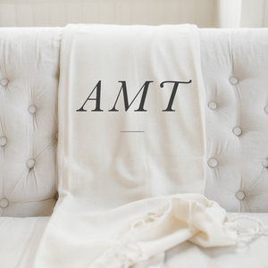Personalized Monogram Throw Blanket