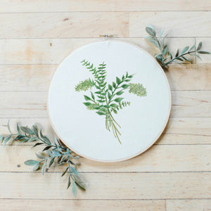 Eucalyptus Bunch Faux Embroidery Hoop