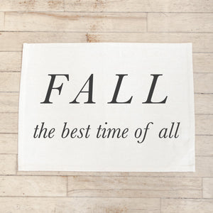 Fall the Best Time Placemat