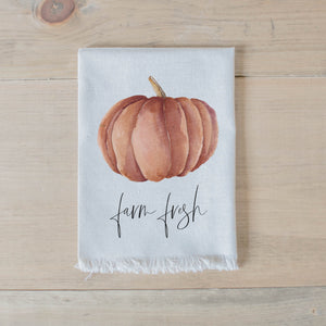 Farm Fresh Pumpkins Watercolor Napkin
