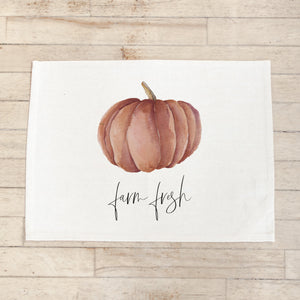 Farm Fresh Pumpkins Watercolor Placemat