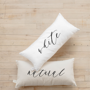 Cuddle Weather Script Lumbar Pillow