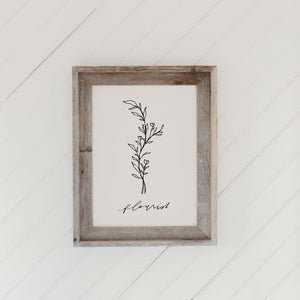 Flourish Wildflower Barn Wood Framed Print