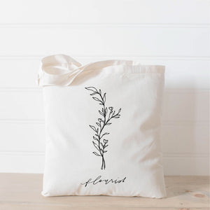 Flourish Wildflower Tote Bag