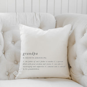 Grandpa Definition Pillow
