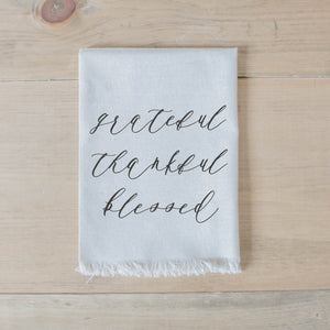 Grateful Thankful Blessed Napkin