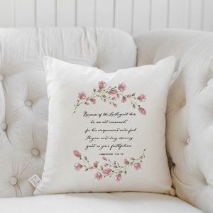 Lamentations 3 Pillow