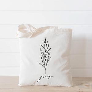 Grow Wildflower Tote Bag