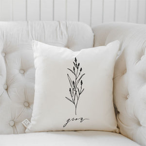 Grow Wildflower Pillow