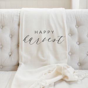 Happy Harvest Throw Blanket