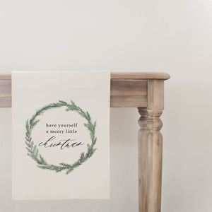 Have Yourself A Merry Little Christmas Wreath Table Runner