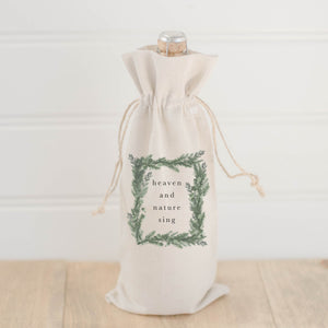 Heaven and Nature Watercolor Wine Bag
