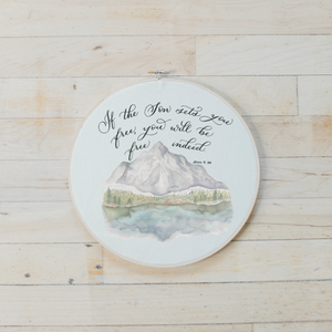 John 8 Faux Embroidery Hoop
