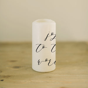 Joy To The World Candle