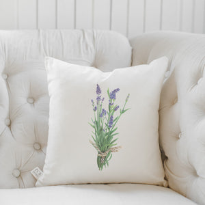 Lavender Watercolor Pillow