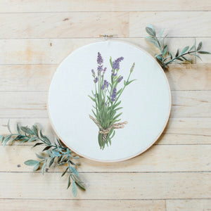Lavender Faux Embroidery Hoop