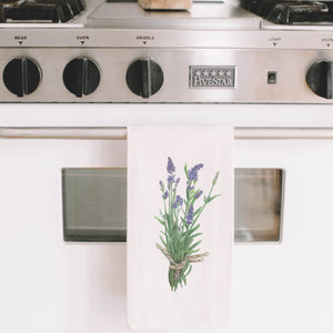 Lavender Watercolor Tea Towel