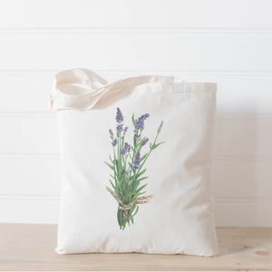 Lavender Watercolor Tote Bag