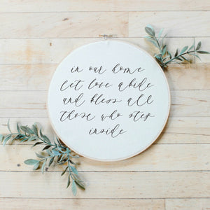In Our Home Faux Embroidery Hoop