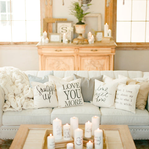 Tan Linen Accent Pillow