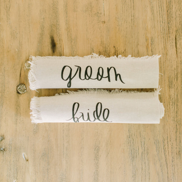 Bride & Groom Rolled Napkin Set
