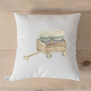 Mums Watercolor Pillow