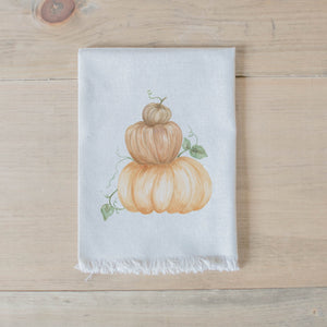 Pumpkin Stack Watercolor Napkin