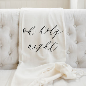 Oh Holy Night Throw Blanket