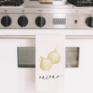 Onion Watercolor Tea Towel