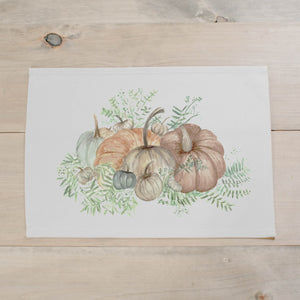 Pumpkin Bunch Watercolor Placemat