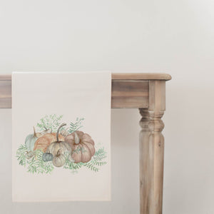 Pumpkin Bunch Watercolor Table Runner