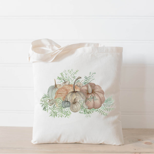 Pumpkin Bunch Watercolor Tote Bag