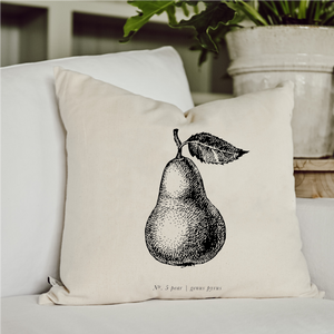 Pear Black + White Pillow