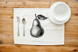 Fruits/Veggies Black + White Placemat