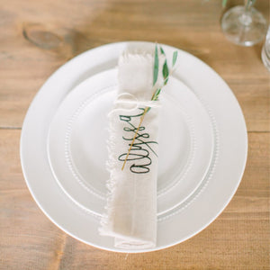 Rolled Personalized Name Napkin