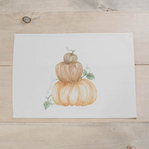 Pumpkin Stack Watercolor Placemat