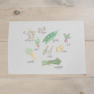 Vegetables Watercolor Placemat