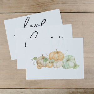 Pumpkins Watercolor Print